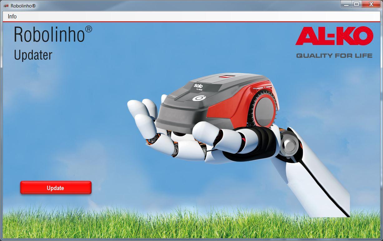 | AL-KO Robolinho® Autoupdater - Krok 11: Uruchom program AutoUpdater i kliknij