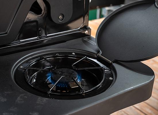 BBQ | AL-KO Masport Grill mit praktischem Seitenbrenner zum Warmhalten und Kochen
