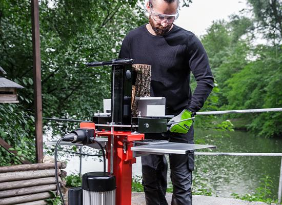 Holzspalter | AL-KO Holzauflage am Spalttisch